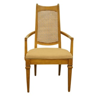 1960s Vintage Drexel Heritage San Remo Italian Provincial Cane Back Dining Arm Chair For Sale