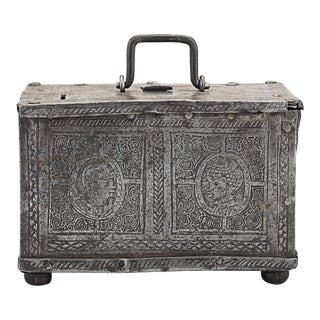 Nuremberg Etched Steel Casket For Sale