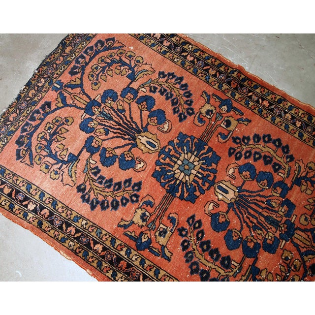 1920s 1920s, Handmade Antique Persian Lilihan Rug 4.9' X 6.7' For Sale - Image 5 of 7