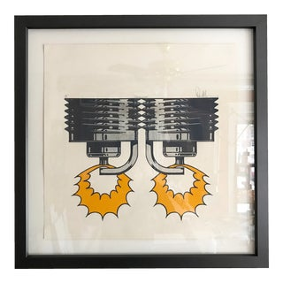 1971 Sparkplug Pop Art Silkscreen Signed & Numbered For Sale