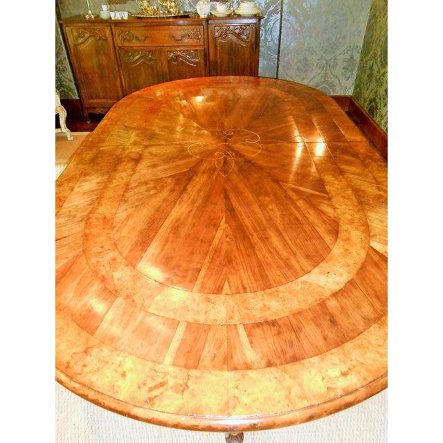 Brown Batavia Pedestal Base Dining Table For Sale - Image 8 of 11