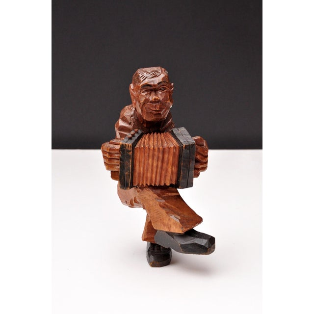 Expressionism Accordion Player in German Expressionist Style For Sale - Image 3 of 11