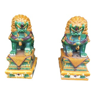 Vintage Foo Dogs Lions - a Pair