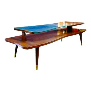 Mid-Century 2-Tier Coffee Table For Sale