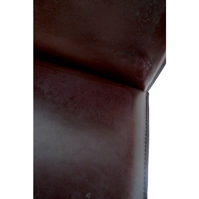 Bellini-Style Leather Side Chairs - A Pair - Image 8 of 9