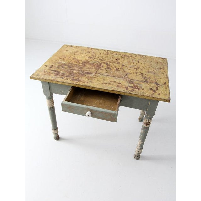 Antique American Painted Wood Table - Image 4 of 6
