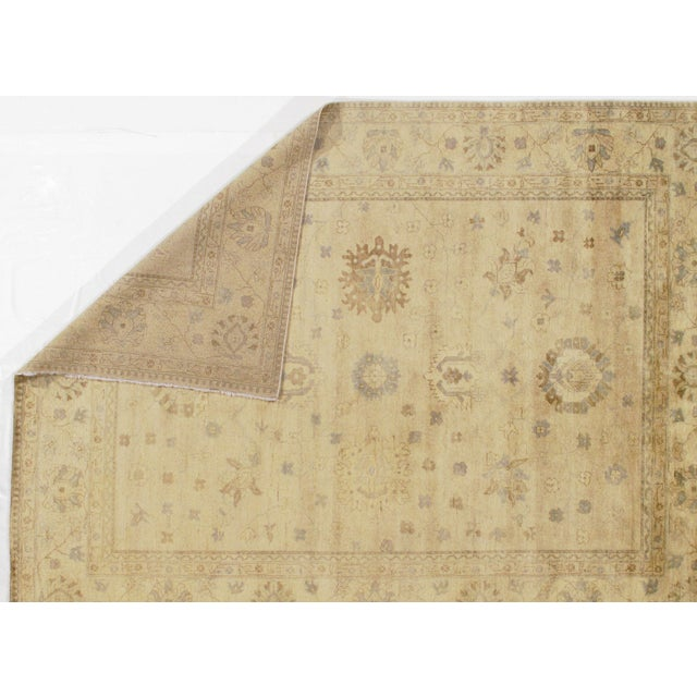 Original Indian Oushak Handmade Hand-Knotted. Lamb's Wool On A Cotton Foundation. This Rug Has A Dense, Soft Pile, And...