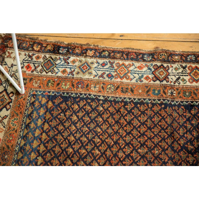 "Vintage Hamadan Rug - 3'7"" X 6' For Sale - Image 11 of 12"