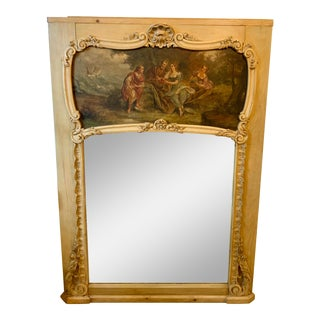 Early 20th Century Antique Trumeau Mirror For Sale