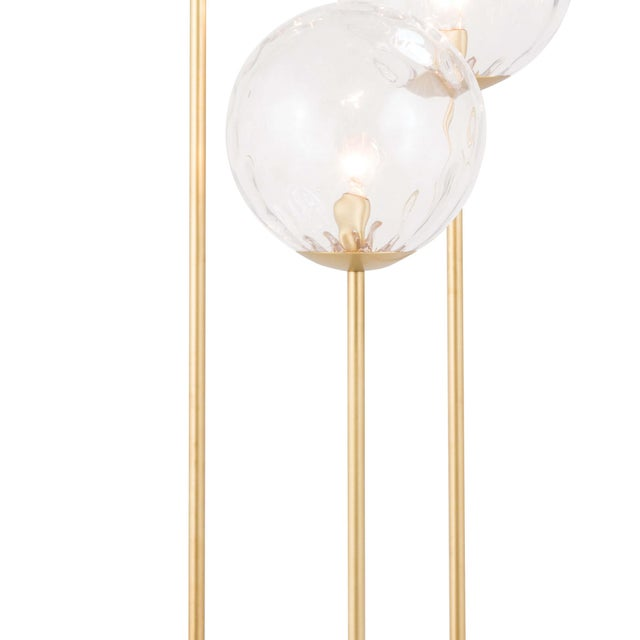 Traditional Rio Triple Floor Lamp in Natural Brass For Sale - Image 3 of 5