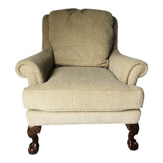 Sherrill Large Club Chair Usa Ball & Claw Feet Mahogany For Sale