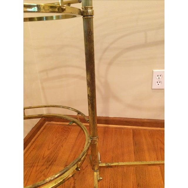 Mid-Century Brass & Glass Bar Cart - Image 10 of 11
