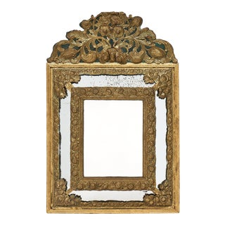 Napoleon III Period Brass Embossed Mirror
