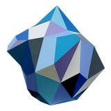 Image of 21st Century Blue Diamond Sculpture by Sassoon Kosian For Sale