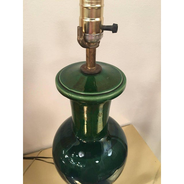 Vintage Mid-Century Modern Drip Glaze Table Lamp For Sale - Image 4 of 12