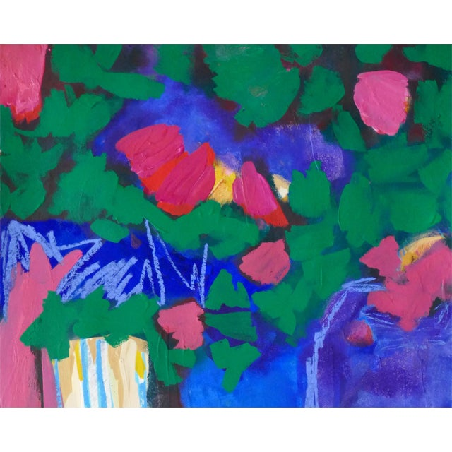 """Abstract Original """" Tree Blossoms"""" Contemporary Abstract Painting For Sale - Image 3 of 6"""