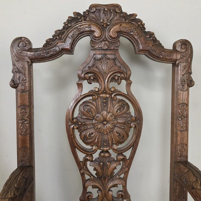 Late 19th Century Pair 19th Century Liegoise Louis XIV Armchairs For Sale - Image 5 of 12