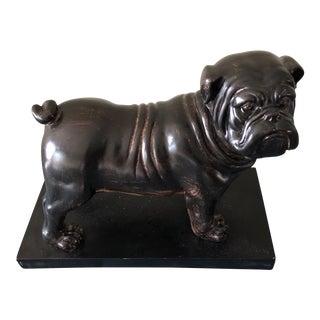 Vintage Bronze Bulldog Figure