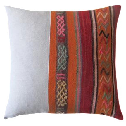 Moroccan Rug Pillow - Image 1 of 3