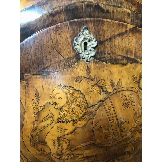 Inlay Marquetry Bombay Desk / Secretary For Sale - Image 9 of 10