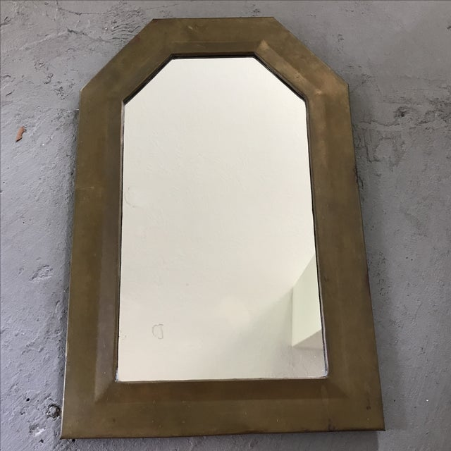 Vintage Brass Framed Mirror - Image 2 of 3
