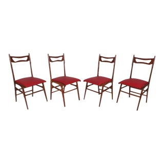 Mid-Century Modern Italian Dining Chairs - Set of 4 For Sale