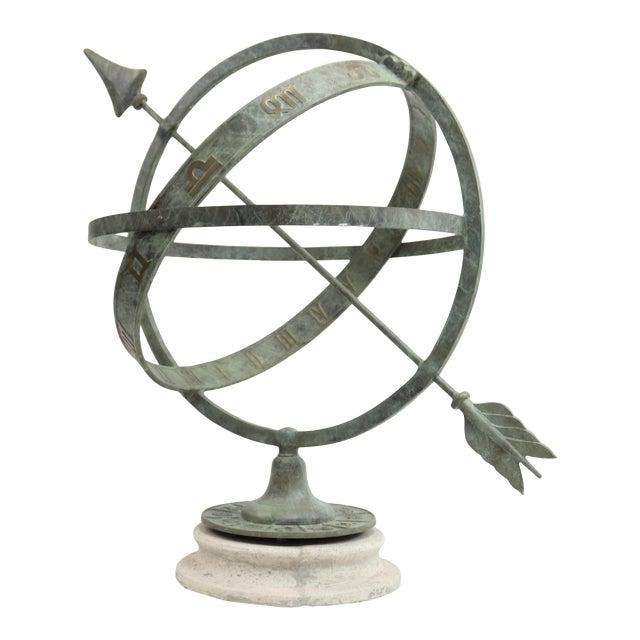 "Bronze Armillary Sundial Sphere 24"" Diameter For Sale"