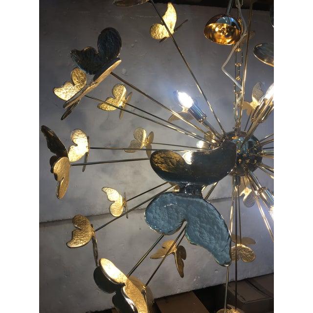 Murano 24 Karat Gold Butterfly Sputnik Chandelier For Sale - Image 4 of 10