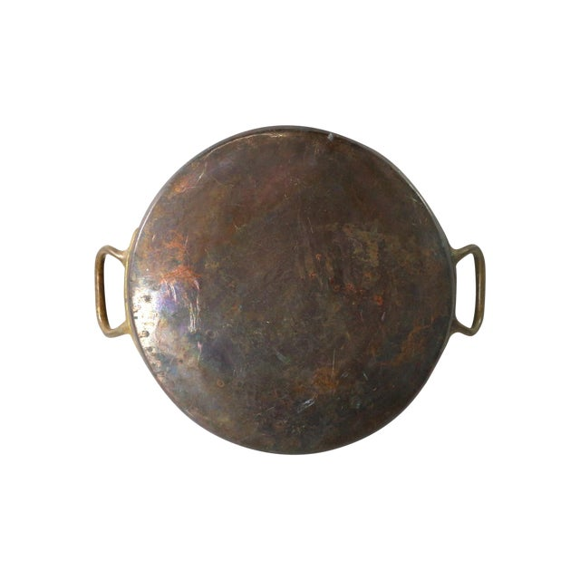 Antique 1880s Huge Copper & Tin Cooking Pan - Image 1 of 6