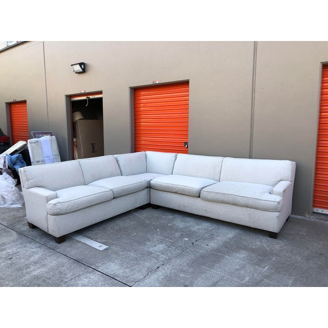Combine elegance and comfort with this Foster sectional sofa by Hickory Chair. Crafted with loose down-filled cushions,...