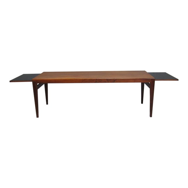 Severin Hansen for Haslev Mid-Century Danish Rosewood Extending Coffee Table For Sale
