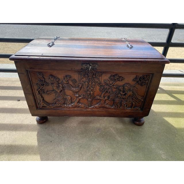 Late 18th Century Italian Carved Trunk Miniature For Sale - Image 13 of 13