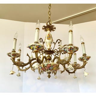 Italian Bronze and Porcelain Neoclassical Chandelier Preview