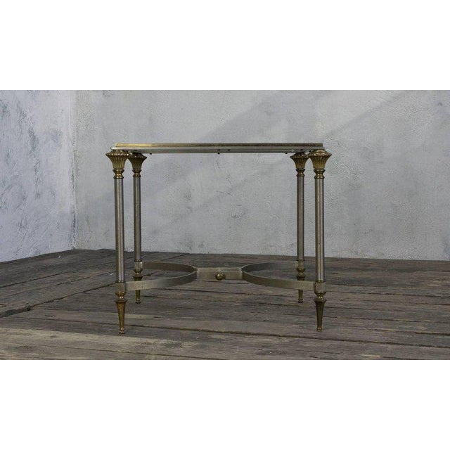 Small Italian Steel and Glass End Table - Image 5 of 11