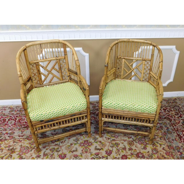 Brighton Style Chippendale Hollywood Regency Bamboo Armchairs- A Pair - Image 7 of 10