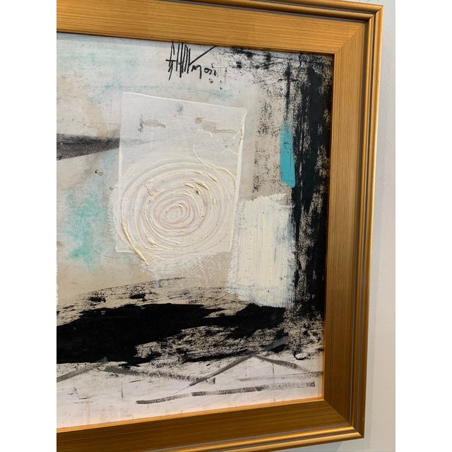 1960s Graham Harmon Oil Painting W/Gold Frame For Sale - Image 4 of 6