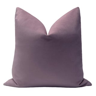 "22"" Smokey Lavender Velvet Pillows - a Pair Preview"
