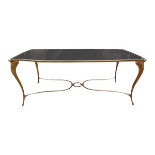 1940's French Maison Bagues Attributed Gilt Bronze Coffee Table For Sale