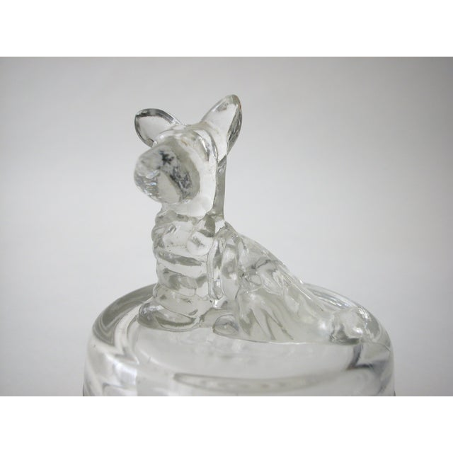 Lidded Glass Bowl with Dog - Image 9 of 10
