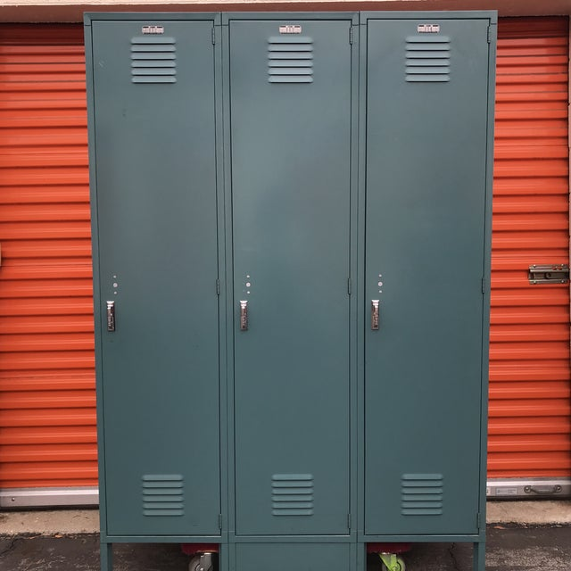 Industrial Vintage Lyon Lockers For Sale - Image 3 of 12