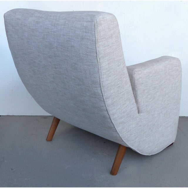 Mid-Century Modern Upholstered Club Chairs-a Pair - Image 5 of 10