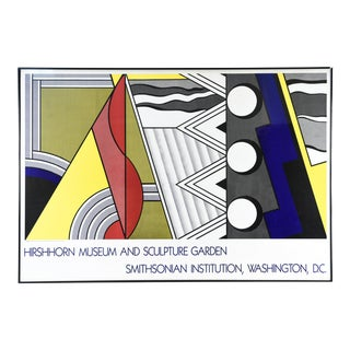 1980s Roy Lichtenstein Hirshhorn Museum Smithsonian Lithograph Poster For Sale