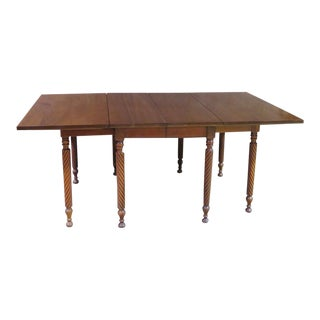 1960s Vintage Solid Cherry Drop Leaf Dining Table For Sale