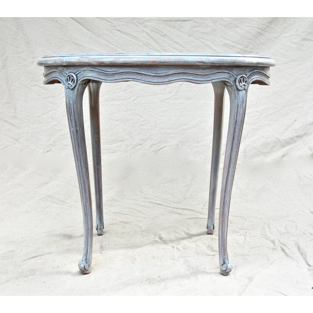French Kidney Shape Marble Top Table For Sale - Image 10 of 12