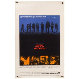 "Original Vintage 1969 ""The Wild Bunch"" Western Movie Poster For Sale"