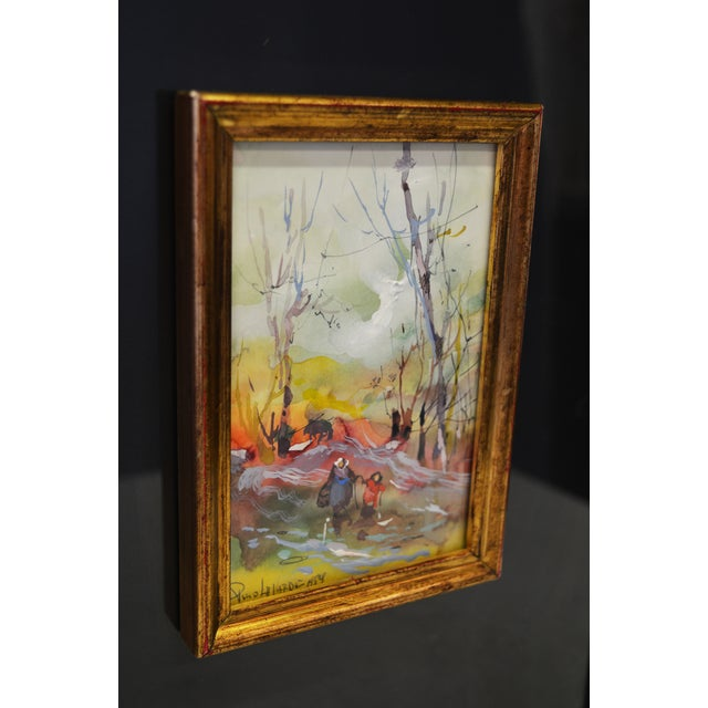 Framed Watercolor Paintings - A Pair - Image 5 of 7