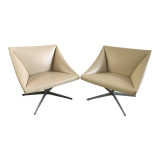 1990s Vintage Contemporary Wolfgang Mezgar Accent Chairs - a Pair For Sale