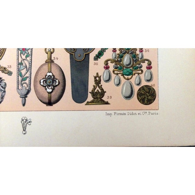 1888 Jewelry of 17th C. France Lithograph - Image 6 of 6
