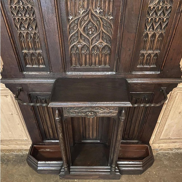 French Gothic Revival Hall Tree Dated 1829 For Sale - Image 11 of 13