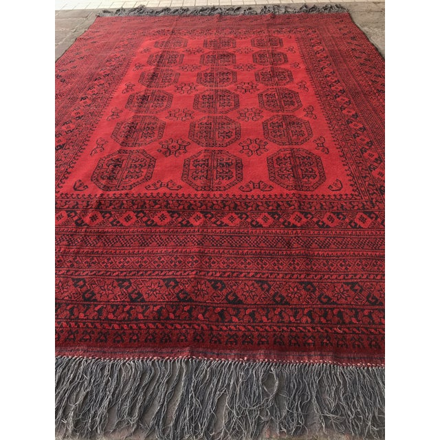 Vintage Hand-Knotted Wool Rug- 6′7″ × 10′7″ For Sale In Raleigh - Image 6 of 13